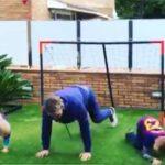 Во соседството на Лео Меси: Доленец ги стави во строј синовите, заедно на тренинг во карантин (ВИДЕО)