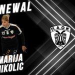 ОФИЦИЈАЛНО: Марија Николиќ четврта сезона ќе игра за ПАОК од Солун