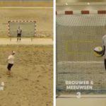 """Сте го виделе ли ова досега - како се игра """"ракометна одбојка""""? (ВИДЕО)"""