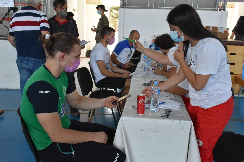 Прва доза имунизација за Еурофарм Пелистер (ФОТО)